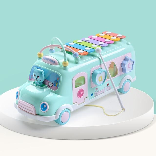 Take The First Bus! Blocks, Beads, Rattle, and Roll With The Music!