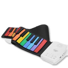 Load image into Gallery viewer, Cool Portable Silicone Piano Rolls Up To Take Along!