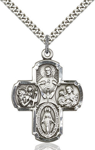 .925 SILVER 4-WAY MEDALLION
