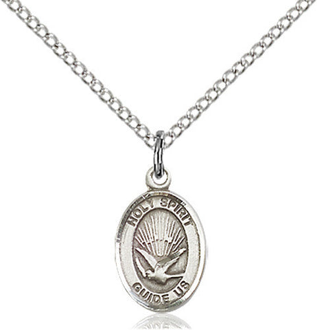 STERLING SILVER HOLY SPIRIT OVAL MEDAL