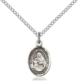 STERLING SILVER MADONNA DEL GHISALLO OVAL MEDAL