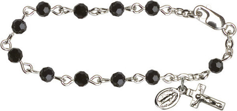 Black Infant Rosary Bracelet