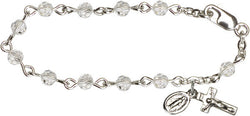 Crystal Infant Rosary Bracelet