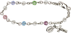 Multi-Colored Infant Rosary Bracelet