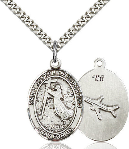 SILVER ST JOSEPH CUPERTINO MEDAL (OVAL)