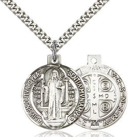 STERLING SILVER ST BENEDICT MEDAL