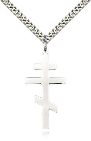 SILVER ST ANDREW CROSS POLISHED