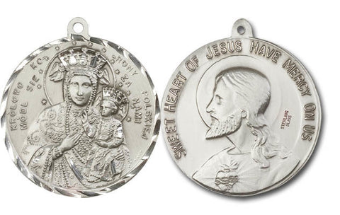 UNIQUE SILVER O.L. OF CZESTOCHOWA MEDAL