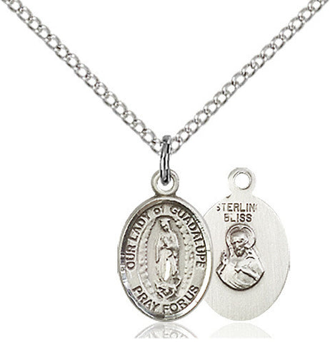 SILVER OUR LADY GUADALUPE MEDAL (OVAL)