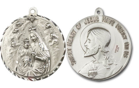 Unique Silver O.L. Of Mount Carmel Medal