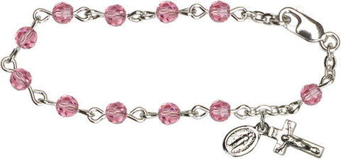 Rose Infant Rosary Bracelet