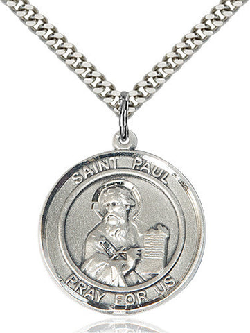 SILVER ST PAUL THE APOSTLE NECKLACE