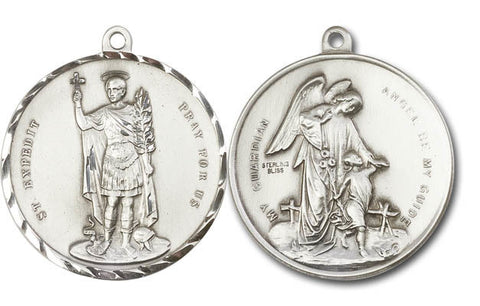 Unique Silver Saint Expedit Medal