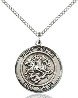 STERLING SILVER ST. GEORGE NECKLACE
