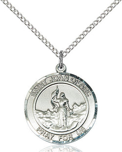 STERLING SILVER ST. JOAN of ARC MEDAL