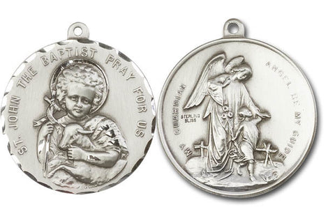 Unique Silver Saint John The Baptist Medal