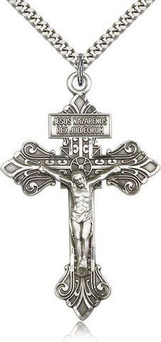 SILVER ENGRAVED PARDON CRUCIFIX