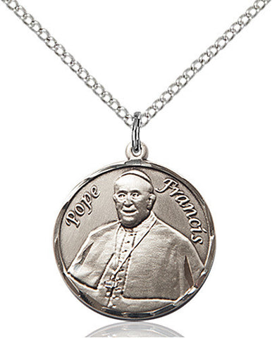 ROUND SILVER POPE FRANCIS MEDAL