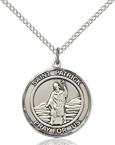 ROUND STERLING SILVER ST. PATRICK MEDAL