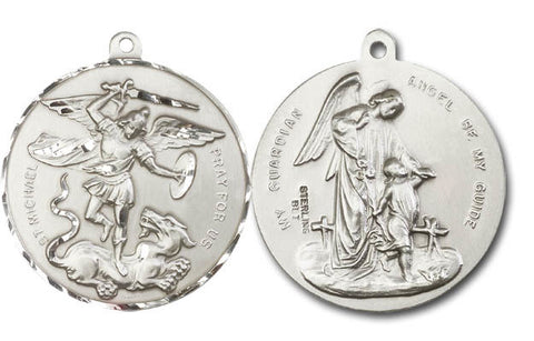 Unique Silver St Michael Medal