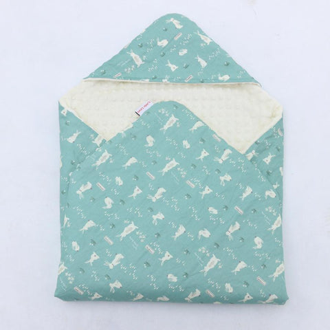 Little Love Blankets 3 Point- Teal Bunnies