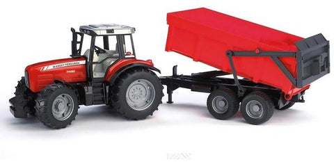 Bruder 2045 Massey Ferguson 7480 and Trailer - David Rogers Toymaster