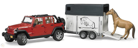 Bruder 2926 Jeep with Horse Trailer - David Rogers Toymaster