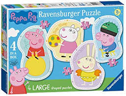 Peppa Pig 4 Large Shaped Puzzles - David Rogers Toymaster