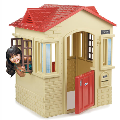 Little Tikes Cape Cottage - Kids Play House (Cream + Red Finish) - David Rogers Toymaster