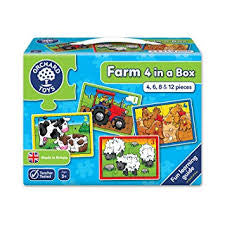 Orchard Toys Farm 4 in a box - David Rogers Toymaster