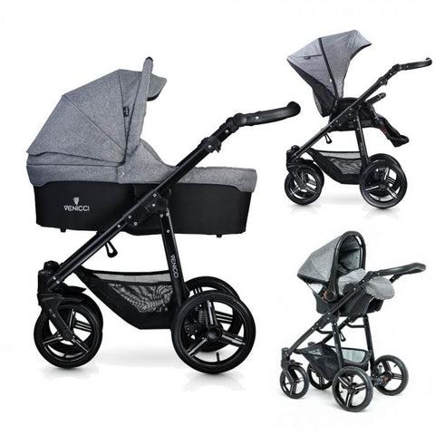 Venicci All In One Travel System Denim Grey - David Rogers Toymaster