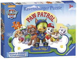 Paw Patrol Shaped Giant Floor Puzzle - David Rogers Toymaster