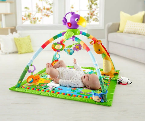 Fisher Price Rainforest Music and Lights Deluxe Gym Play Mat - David Rogers Toymaster