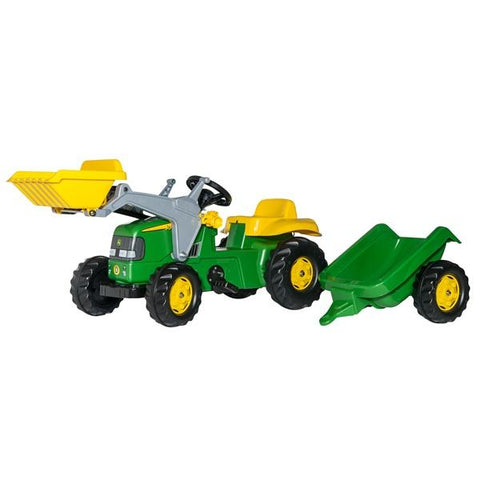 Rolly Medium John Deere Tractor + Scoop + Trailer - David Rogers Toymaster