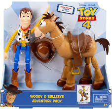 Toy Story 4 Posable Woody and Bullseye Adventure Pack - David Rogers Toymaster
