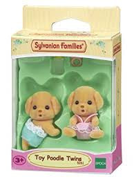 Sylvanian Families Toy Poodle Twins - David Rogers Toymaster