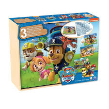 Paw Patrol 3 Wooden Puzzles - David Rogers Toymaster
