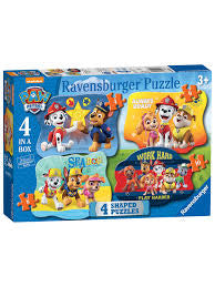 Paw Patrol 4 shaped Puzzles - David Rogers Toymaster