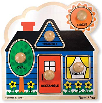 Melissa and Doug House Large Peg Puzzle - David Rogers Toymaster