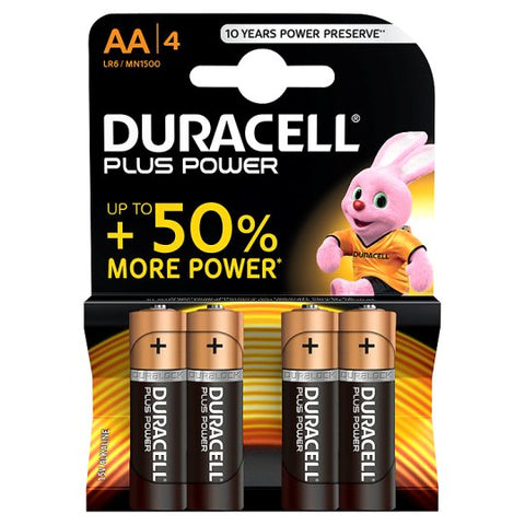 Duracell AA Batteries 4 pack - David Rogers Toymaster
