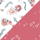 Bebe Au Lait - 2pk Swaddle Blankets - Mermaids and Bubbles