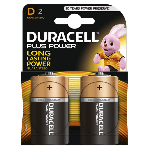 Duracell D Batteries 2 Pack - David Rogers Toymaster