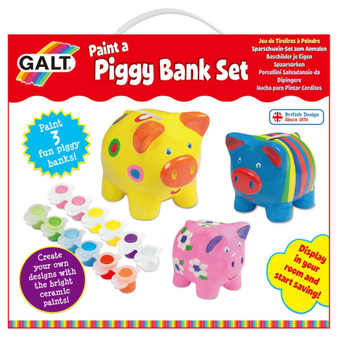 Galt Paint a Piggy Bank Set - David Rogers Toymaster