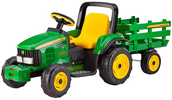 John Deere 12V Tractor and Trailer - David Rogers Toymaster