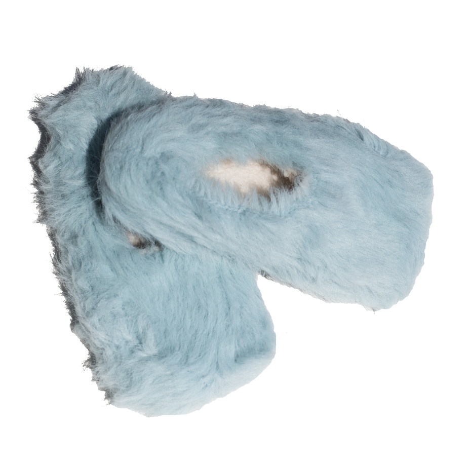 Soft Blue Fluffy Slippers