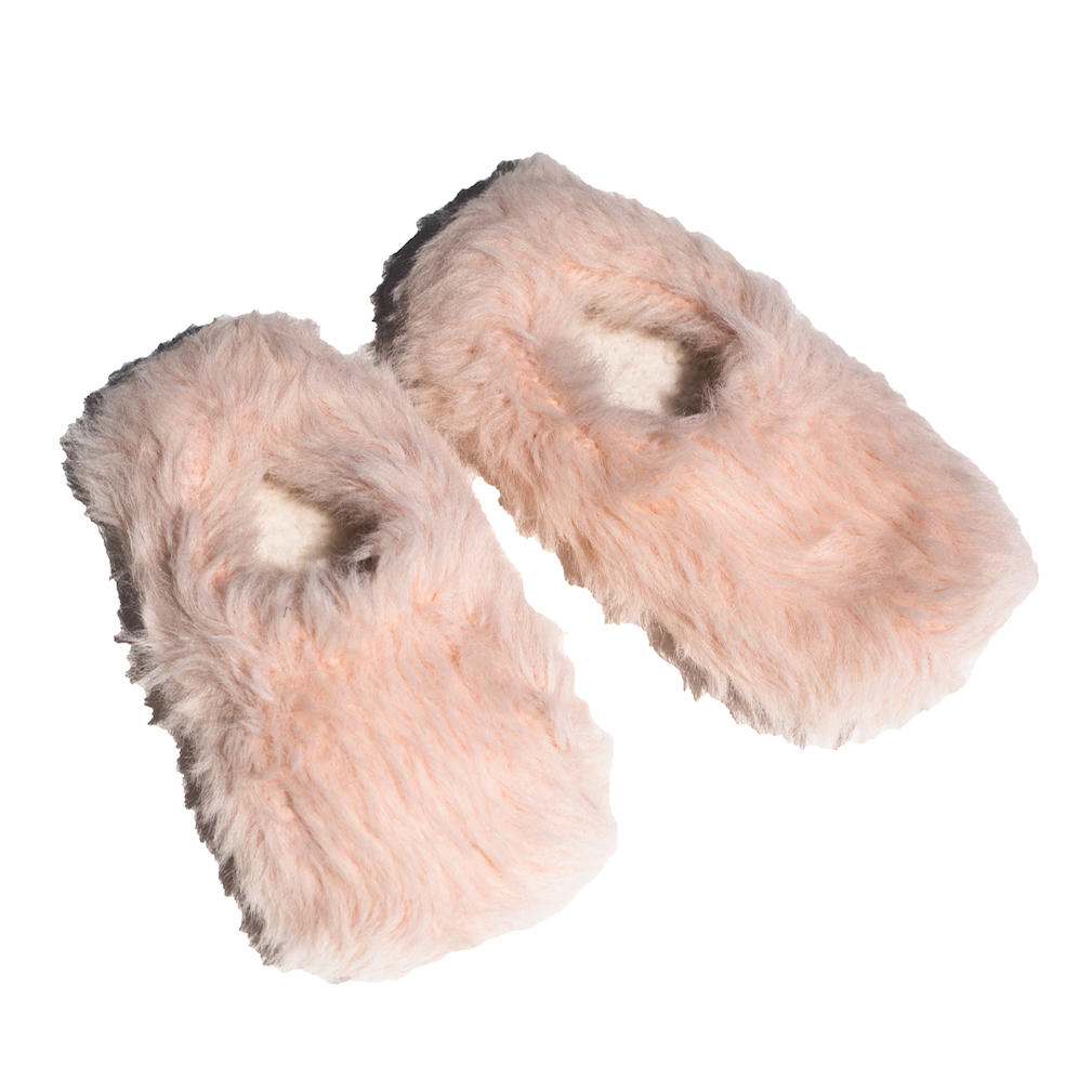 Dusty Rose Fluffy Slippers