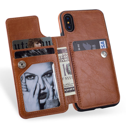Samsung S8, S8 Plus, Note 8 Flip Leather Case - godigita