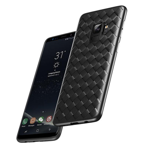 Luxury Grid Weave Cases For Galaxy S9 S9+ - godigita