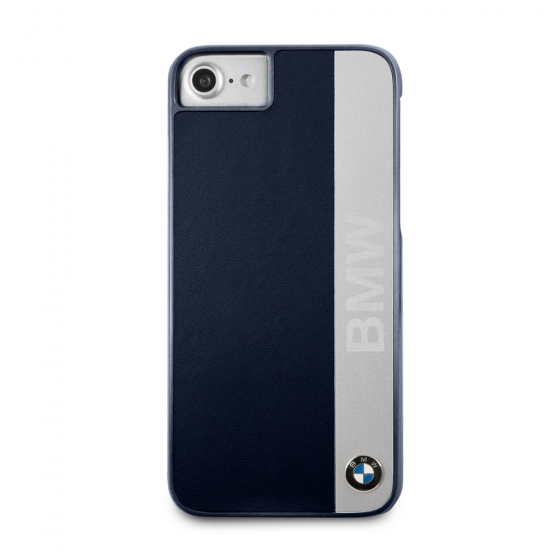 BMW iPhone 8 & iPhone 7 - Genuine Leather & Engraved Aluminum Hard Case