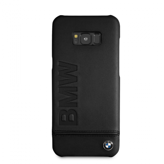 BMW Samsung Galaxy S8 Plus Taupe Genuine Leather Hard Case